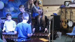 MCS teaches Potlatch High School Marimba