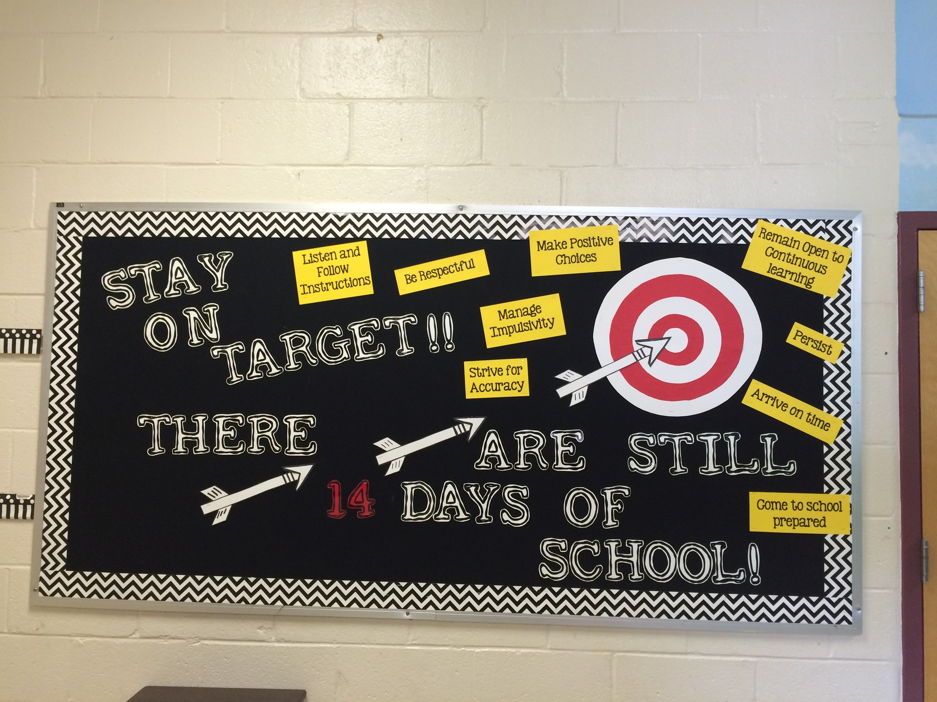 stay on target bulletin board
