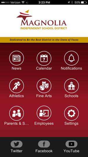 screenshot of MISD mobile app