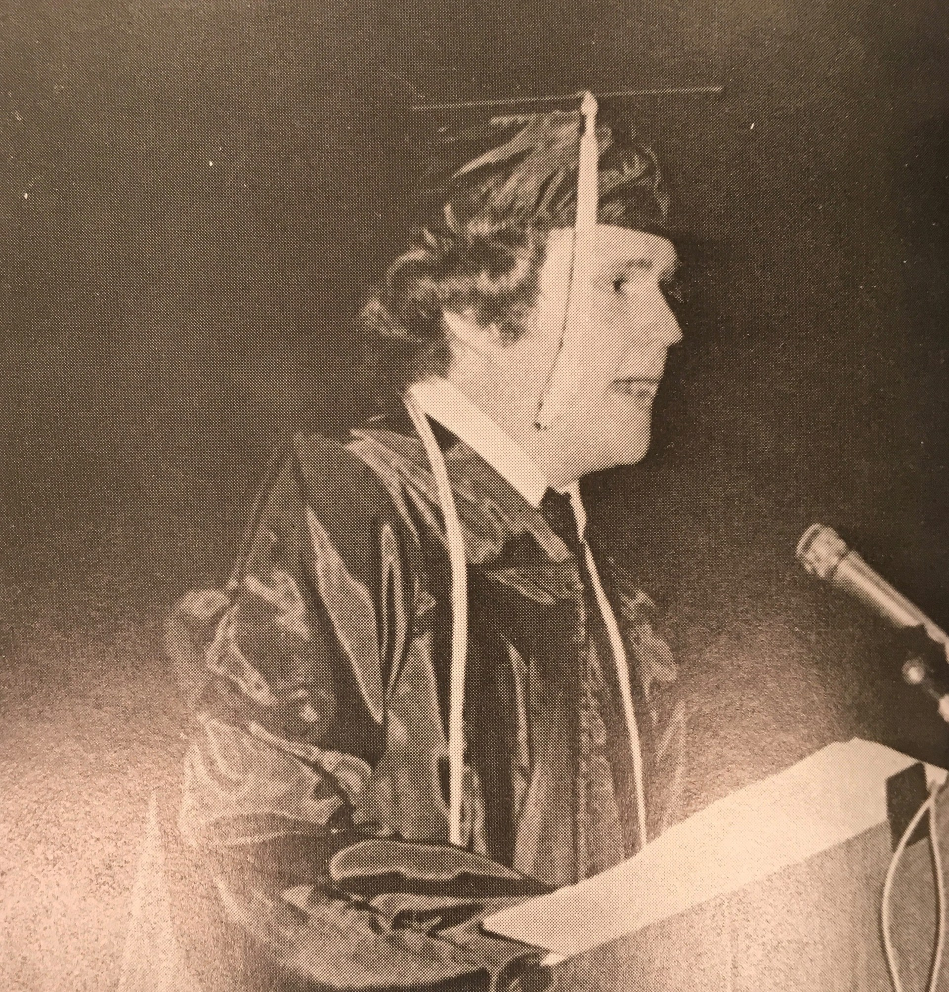 Reid Sharp giving graduation speech