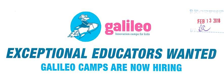Galileo Hiring Educators Logo