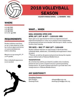 Middle School Volleyball Season