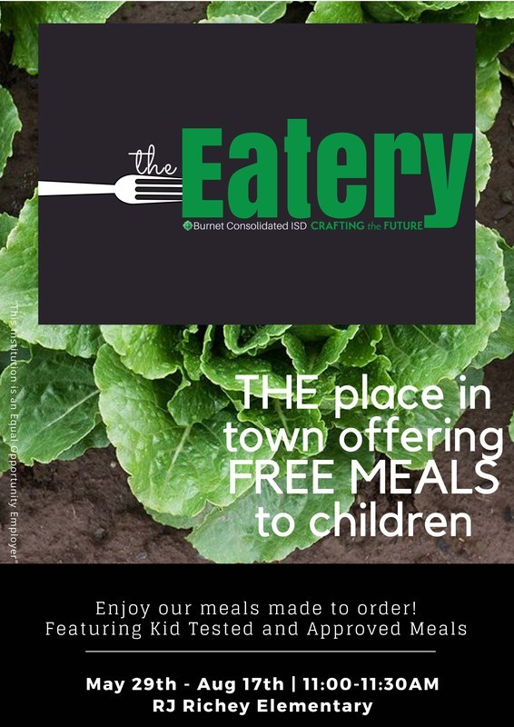 The Eatery - BCISD's summer feeding program provides free lunches to all children 18 years of age and younger. Thumbnail Image