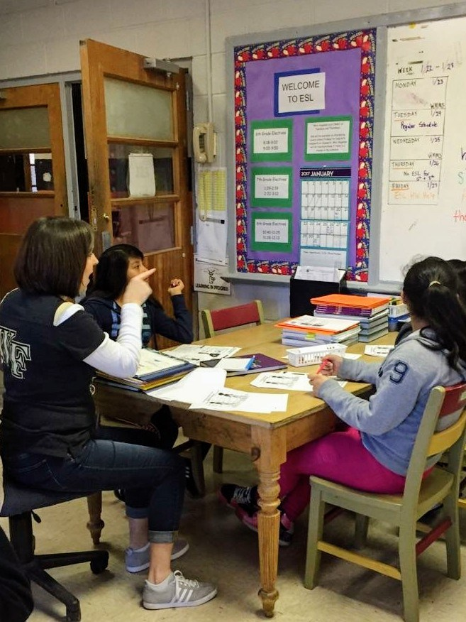 Beginning Teacher with Students in the classroom