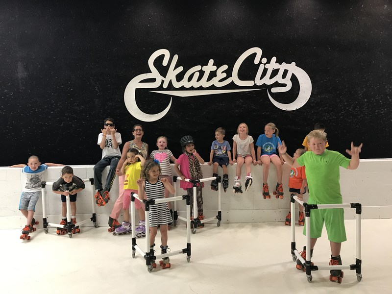 gva douglas county kids at skate city posing for a group photo