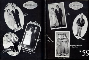 Scanned photo of 1959 Sceptre yearbook - Senior Awards page