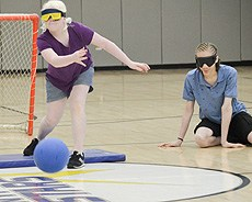 Camp Wanaqua plays Goalball