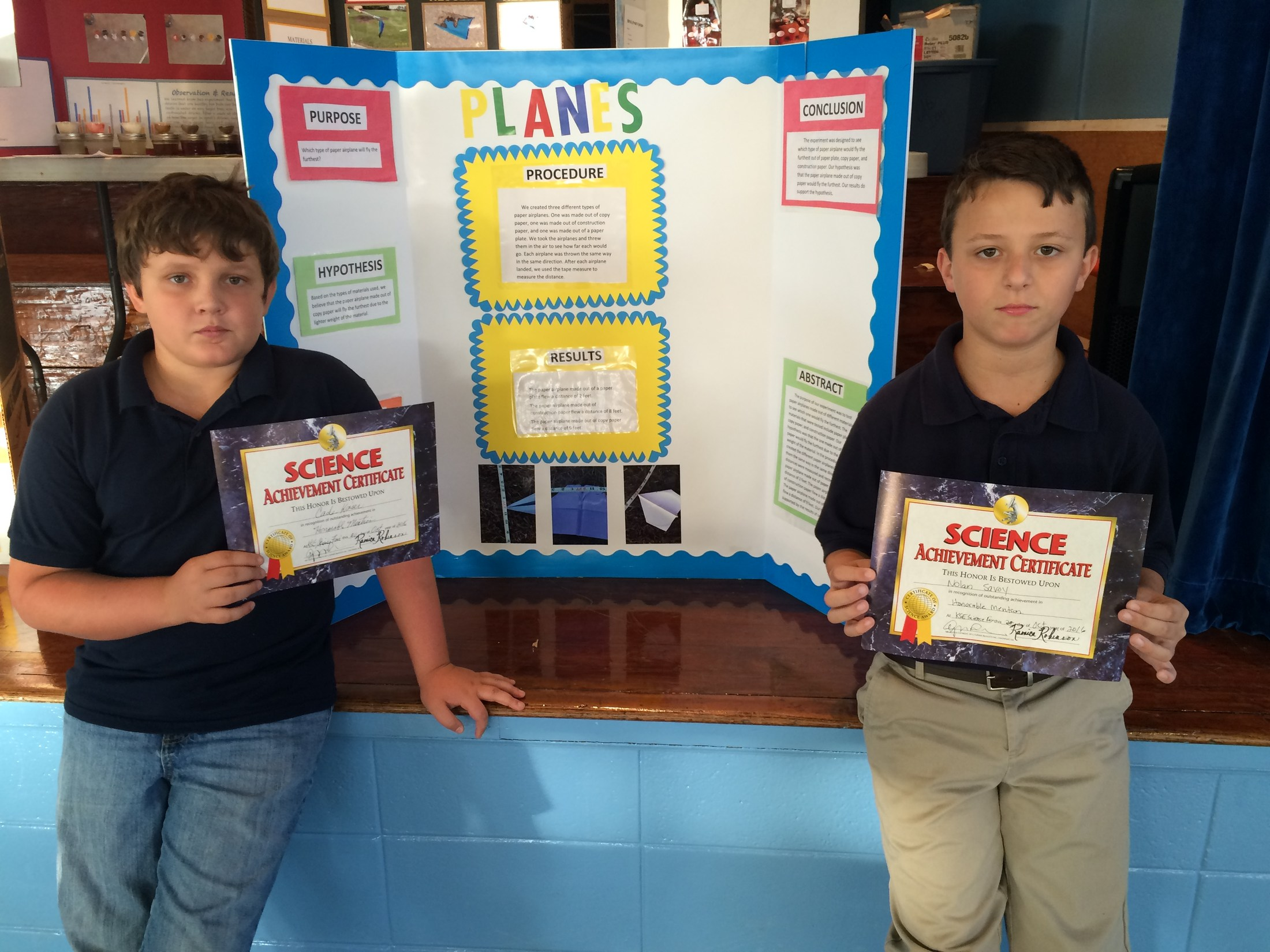 5th Graders Honorable Mentioned in Science Fair