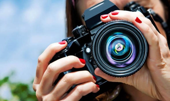 Close up of photographer.
