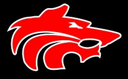 Red Wolf Head logo