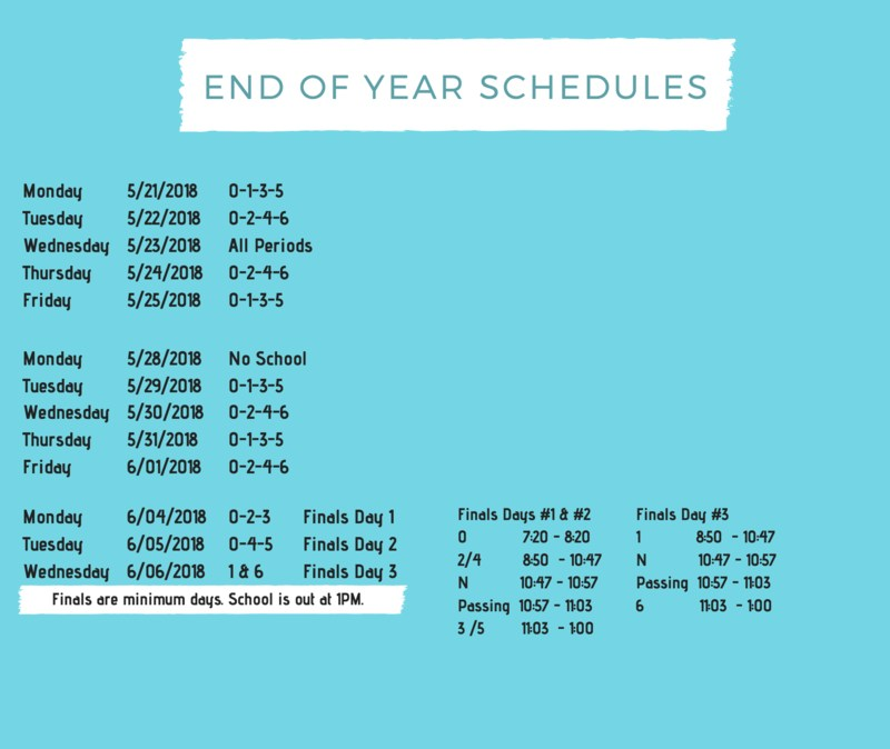 End Of The Year Schedules Featured Photo