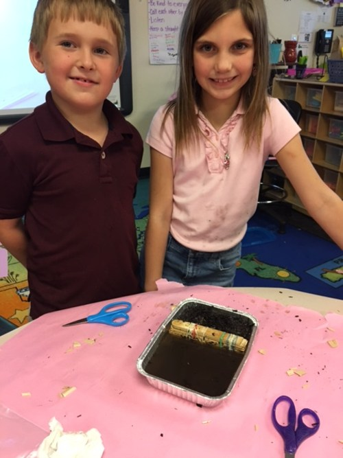STEM Fridays! Building barriers to stop erosion.