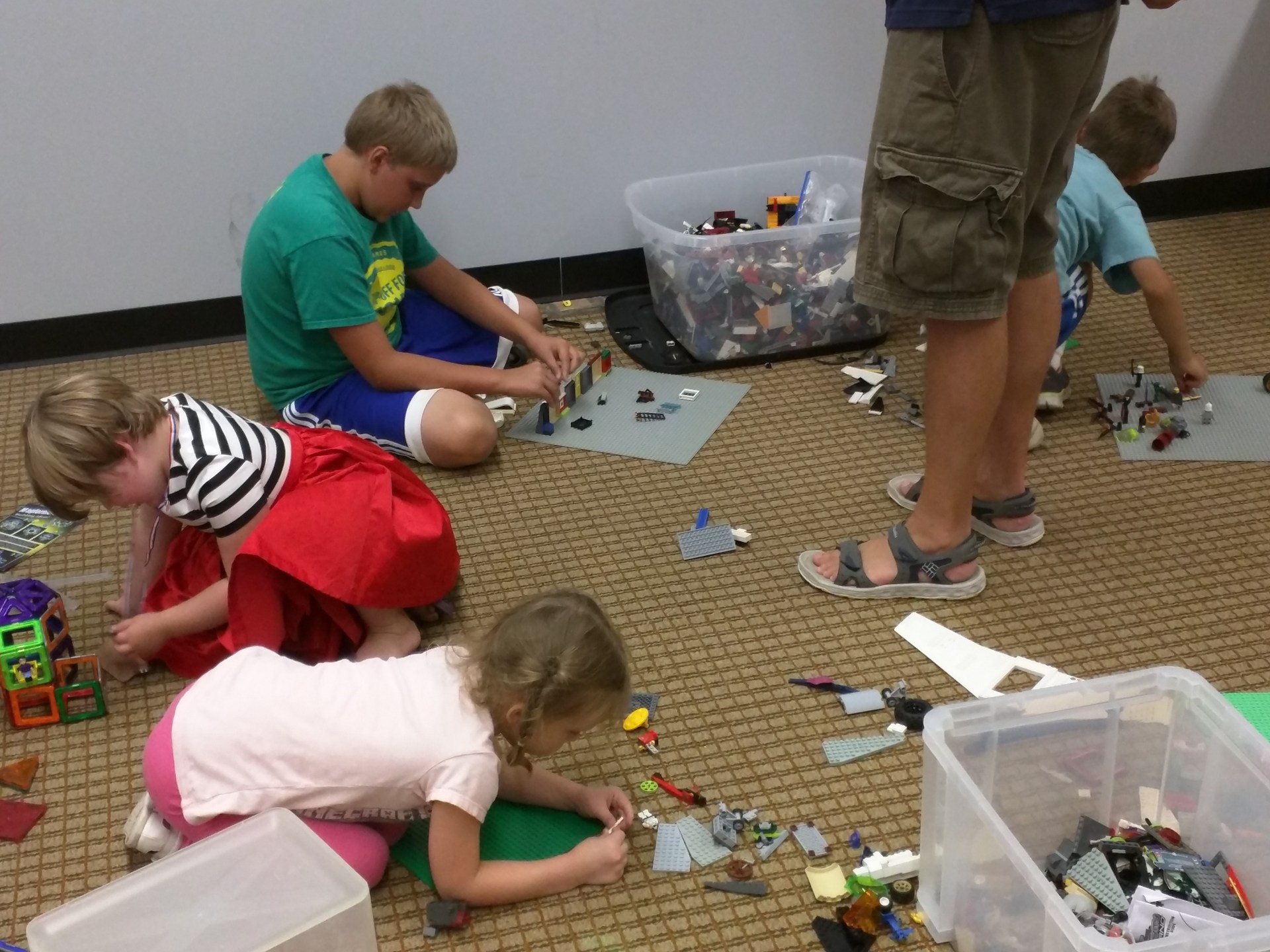 Lego's at Steam Summer Camp.
