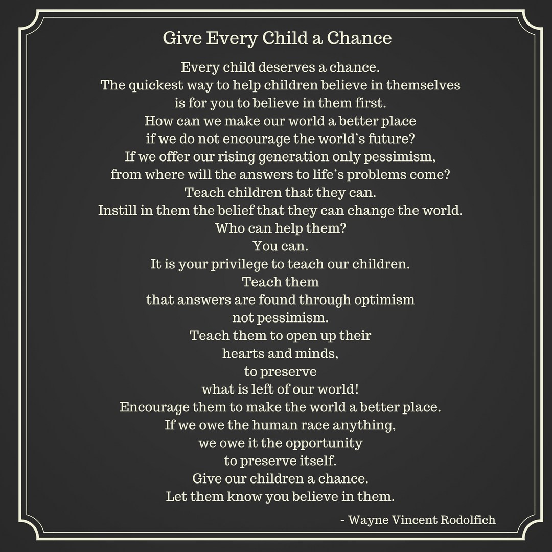 Give Every Child a Chance Poem