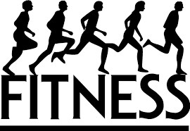 Runners over the word fitness