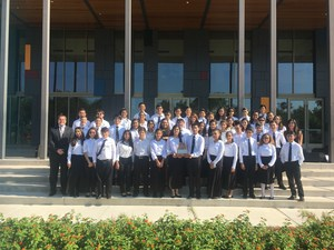Cathey Full Orchestra receives sweepstakes.