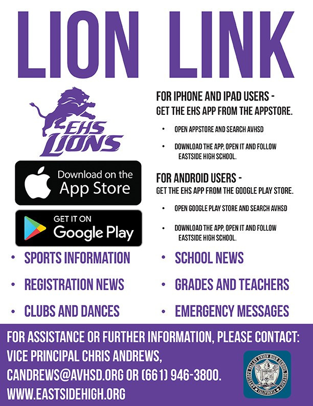 Lion Link App Flyer(English)