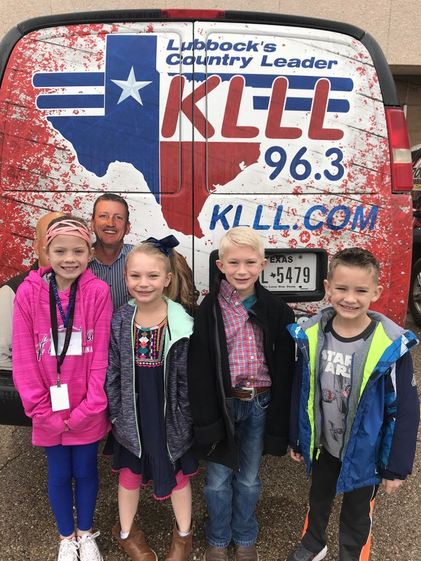 Picture of students being interviewed at KLLL Radio Station