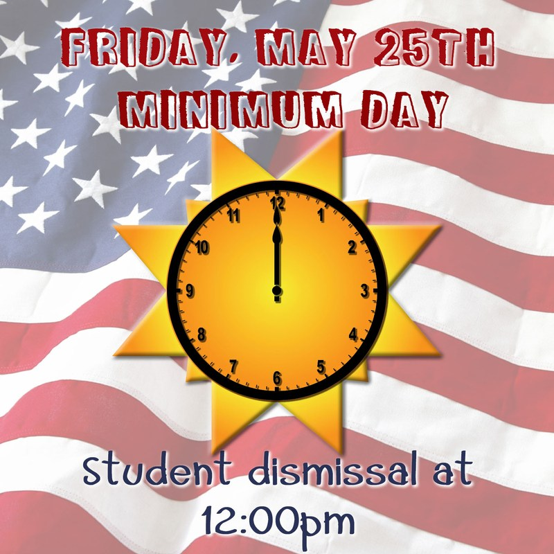 Minimum Day Friday, May 25th Thumbnail Image
