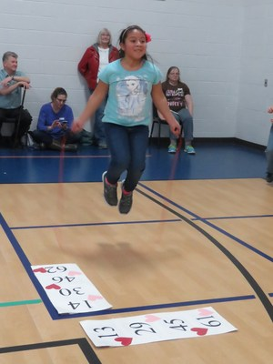 Lee students jump rope during the school's annual Jump Rope for Heart event.