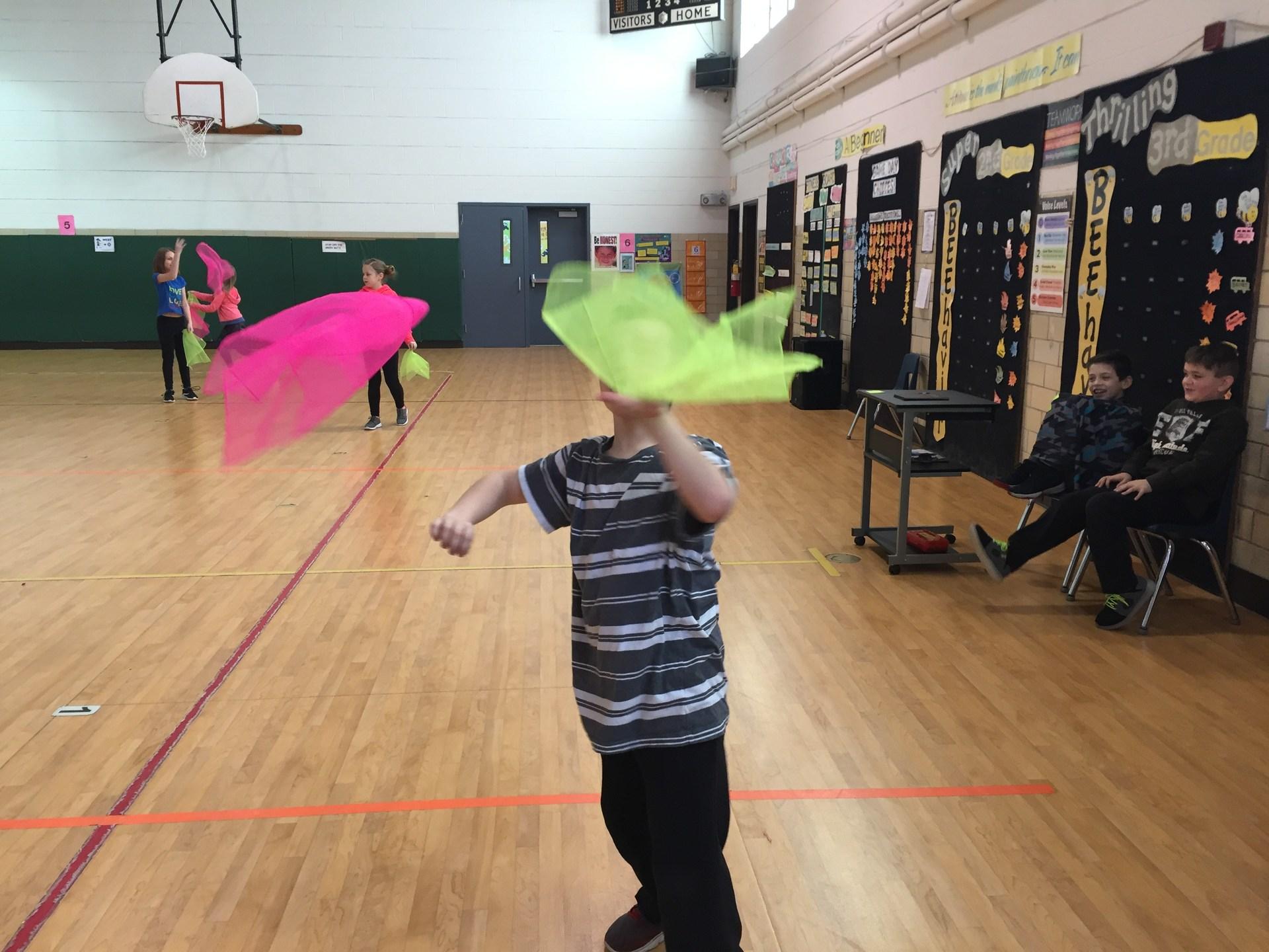 more scarf juggling!