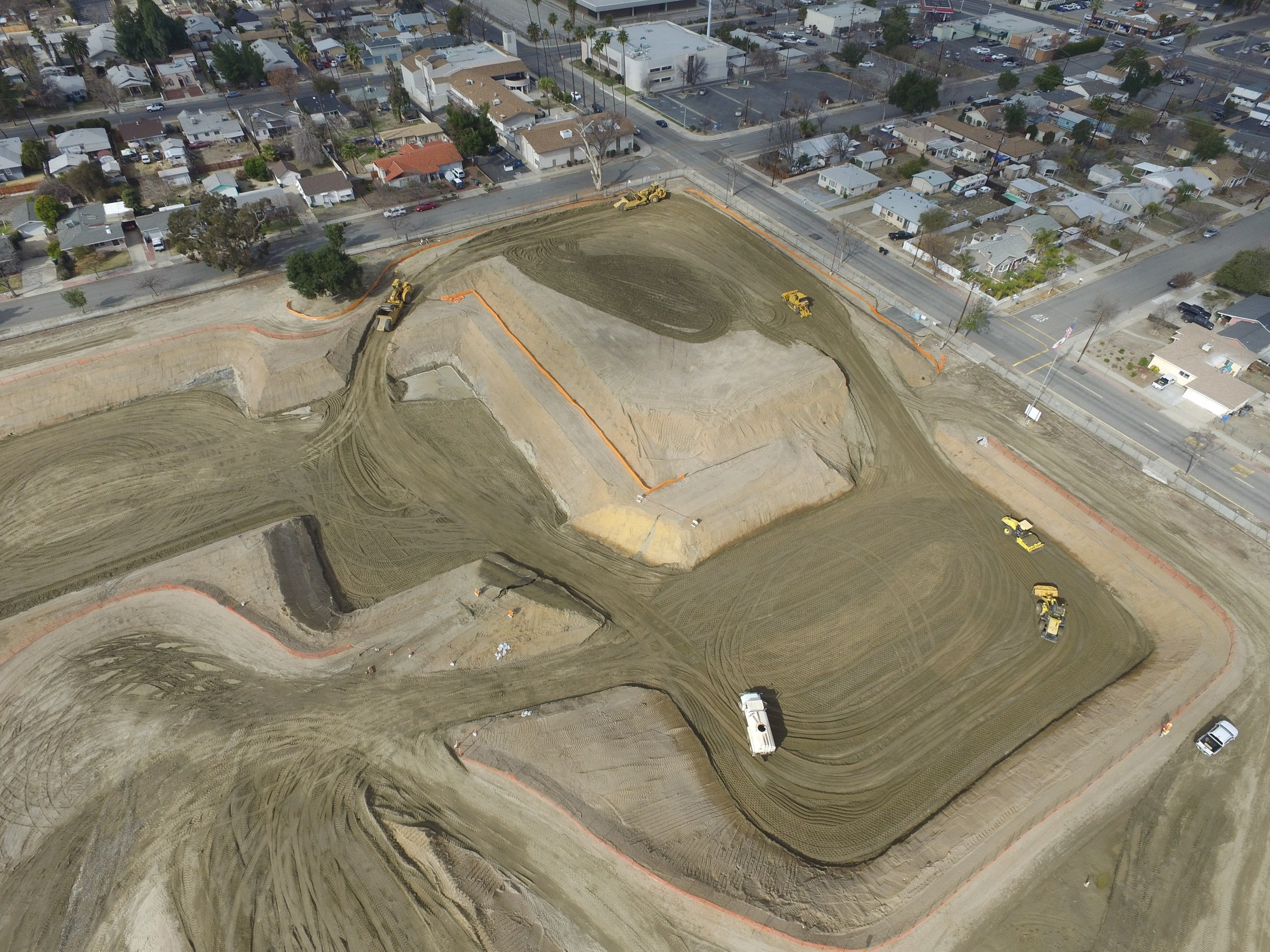 Aeriel view of Hemet Elementary as they level the area