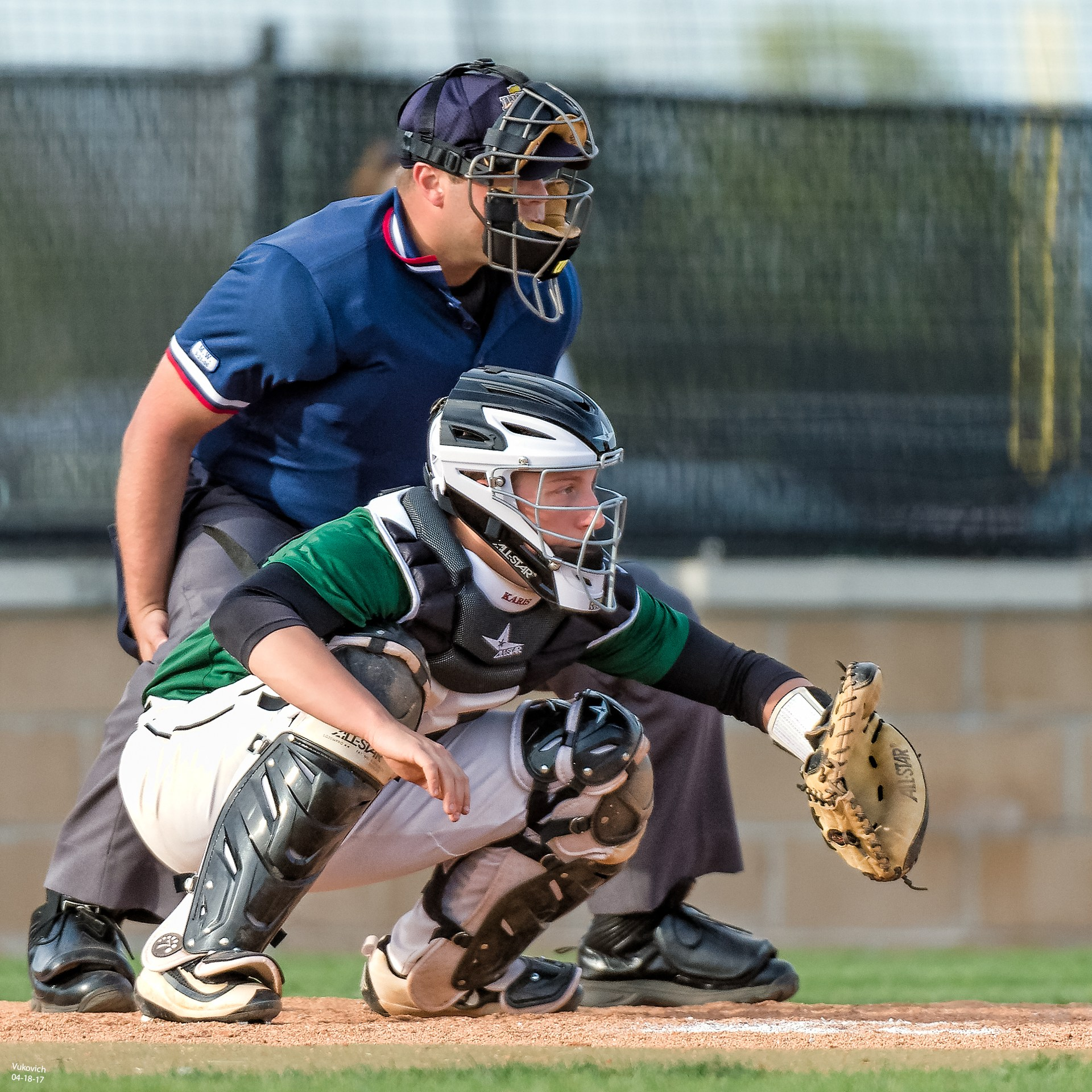 Junior Stephen Karis action photo