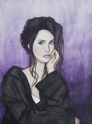 student painting of female portrait
