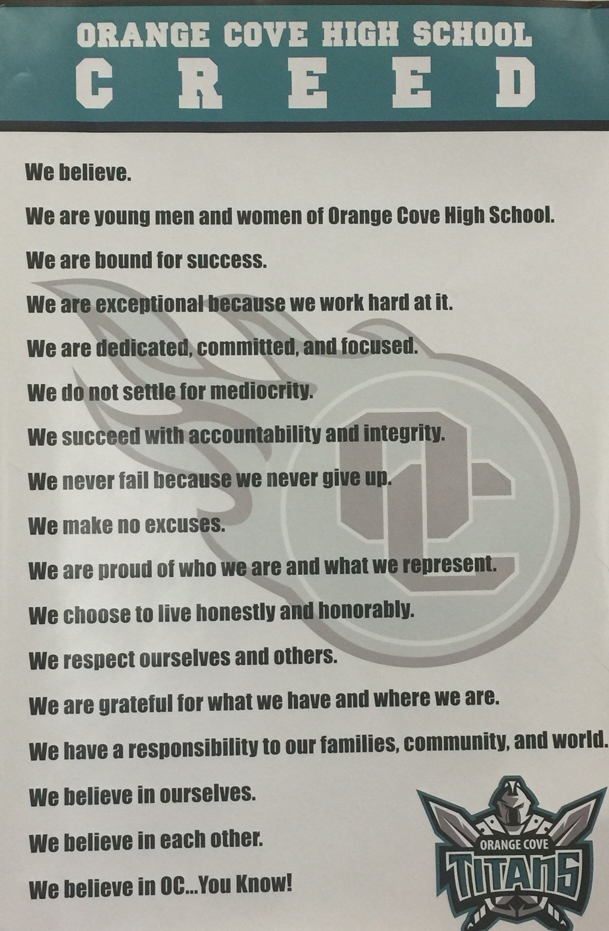 OCHS Creed