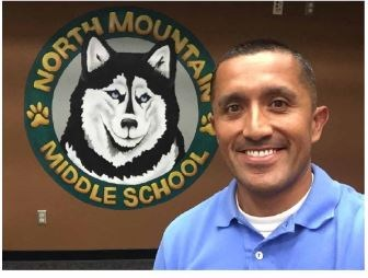North Mountain Middle School Principal Gil Rodriguez