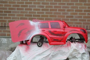 Car for the parade, painted by students