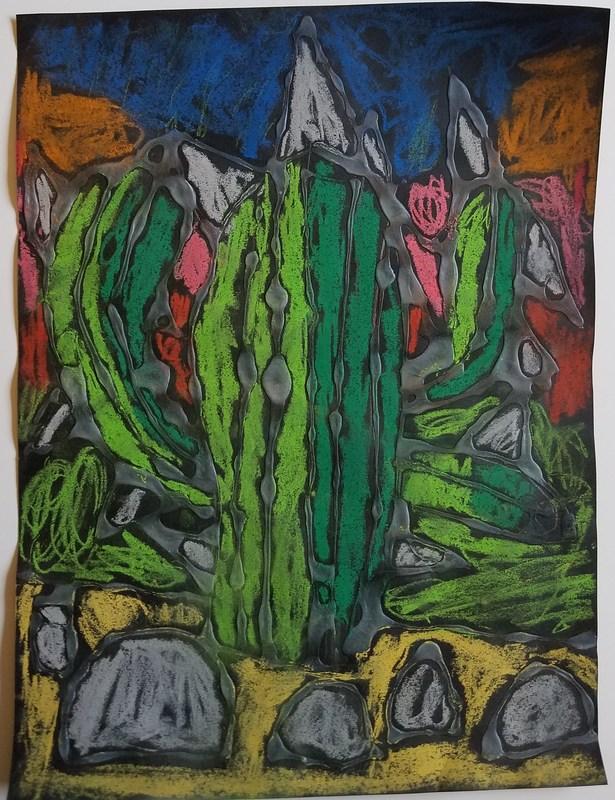 Winning Artwork piece by a 2nd grade student.