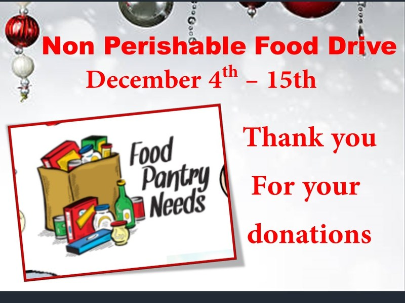 Non Perishable Food Drive Featured Photo