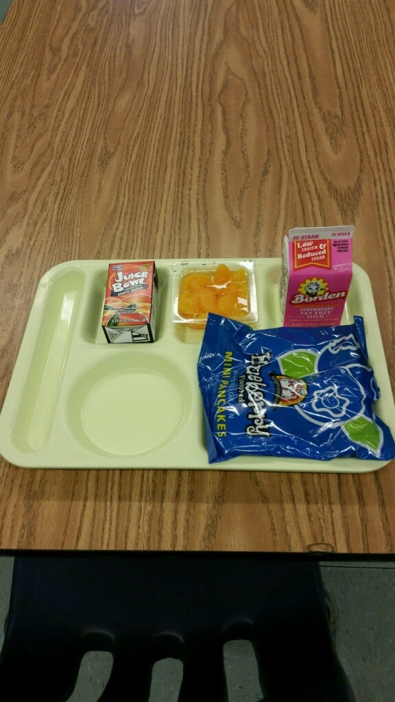 pancakes breakfast tray