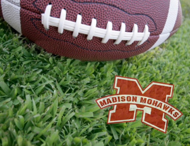 Football with Madison Logo