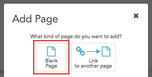 Click Blank Page