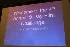 Students getting ready for the 9-Day Film Challenge=