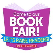purple book with words book fair on it
