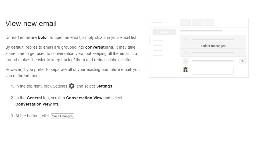 Viewing Email Screenshot