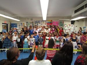 students singing at the hispanic heritage celebration