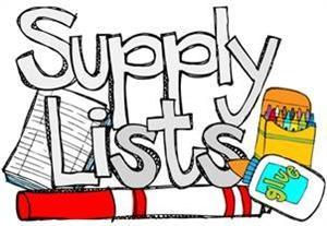 2018-19 Supply Lists Thumbnail Image