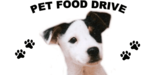 Pet Food Drive, Jack Russel Terrior and paw prints