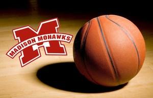 basketball with madison logo