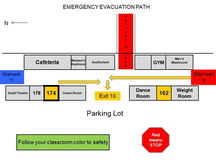 First Floor Campus Evac Map