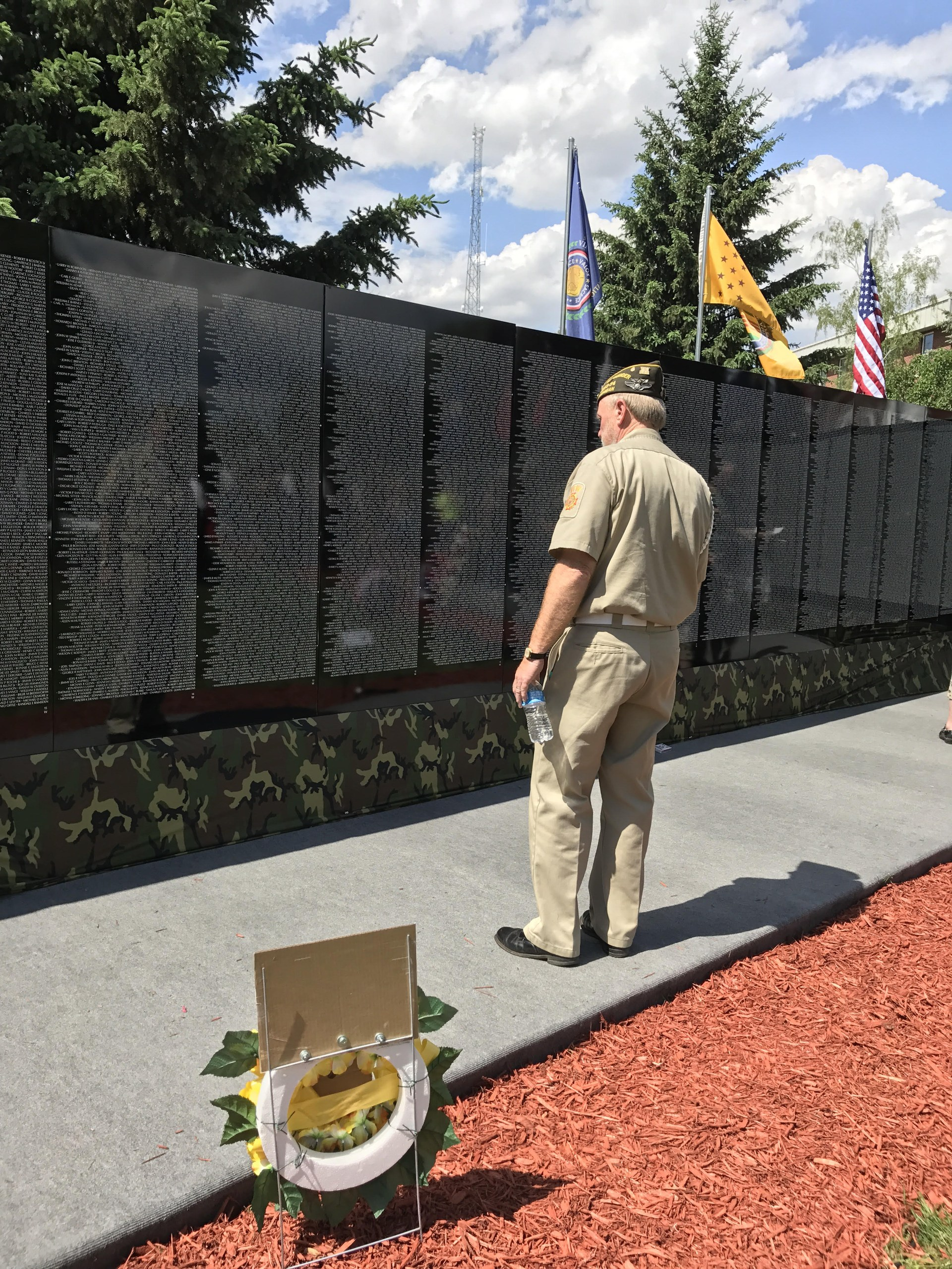 A Veteran looks at the Moving Wall.
