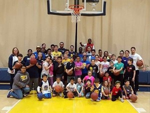 Free Basketball Camp attendees