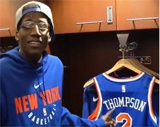 Kevin with the NY Knicks