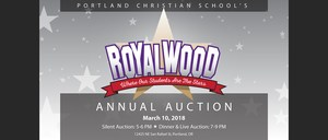 Portland Christian Schools Royalwood Annual Auction banner
