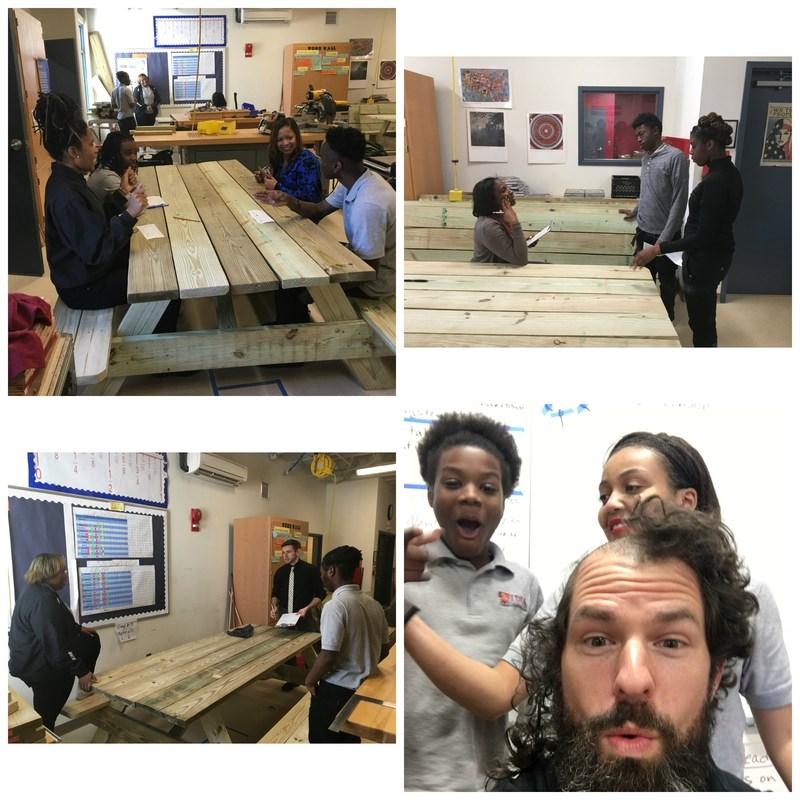 Construction I Students Take Picnic Table Challenge Thumbnail Image