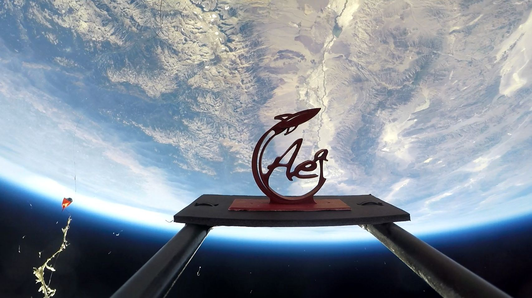 logo in space